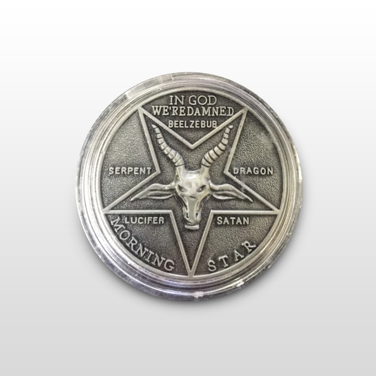 Lucifer Morningstar (TV Show) Pewter-Tone Inspired Replica Coin 1:1 Scale - case included