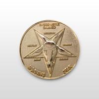 Lucifer Morningstar (TV Show) Gold-Tone Inspired Replica Coin 1:1 Scale - no case