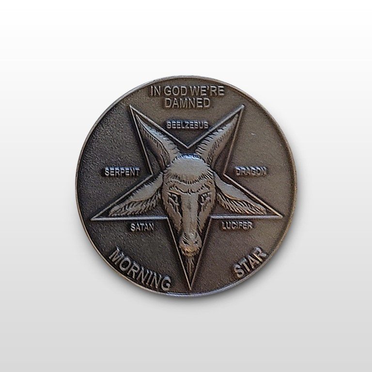 Lucifer Morningstar (TV Show) Pewter-Tone Inspired Replica Coin 1:1 Scale - no case